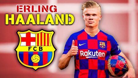 Alf-Inge Håland & sonens agent i möte med FC Barcelonas president