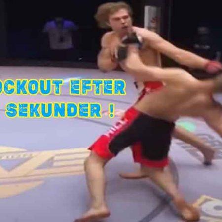 Svensk MMA fighter knockar sin motståndare på 13 sekunder